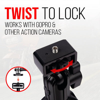 Enduro Series™ Motorcycle Action Camera Mount - Twist to lock