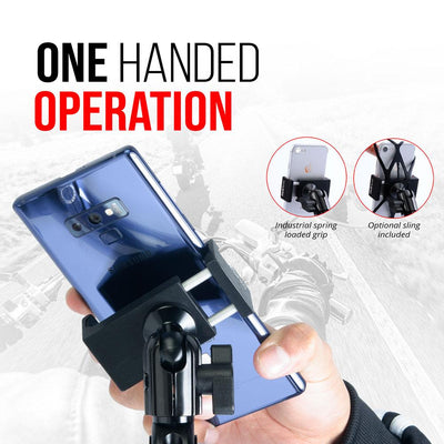 "Enduro Series™ Can-Am Spyder Phone Mount | Short Reach Arm | 11mm Pinch Bolt Mount with  1"" (25mm) Rubber Ball"
