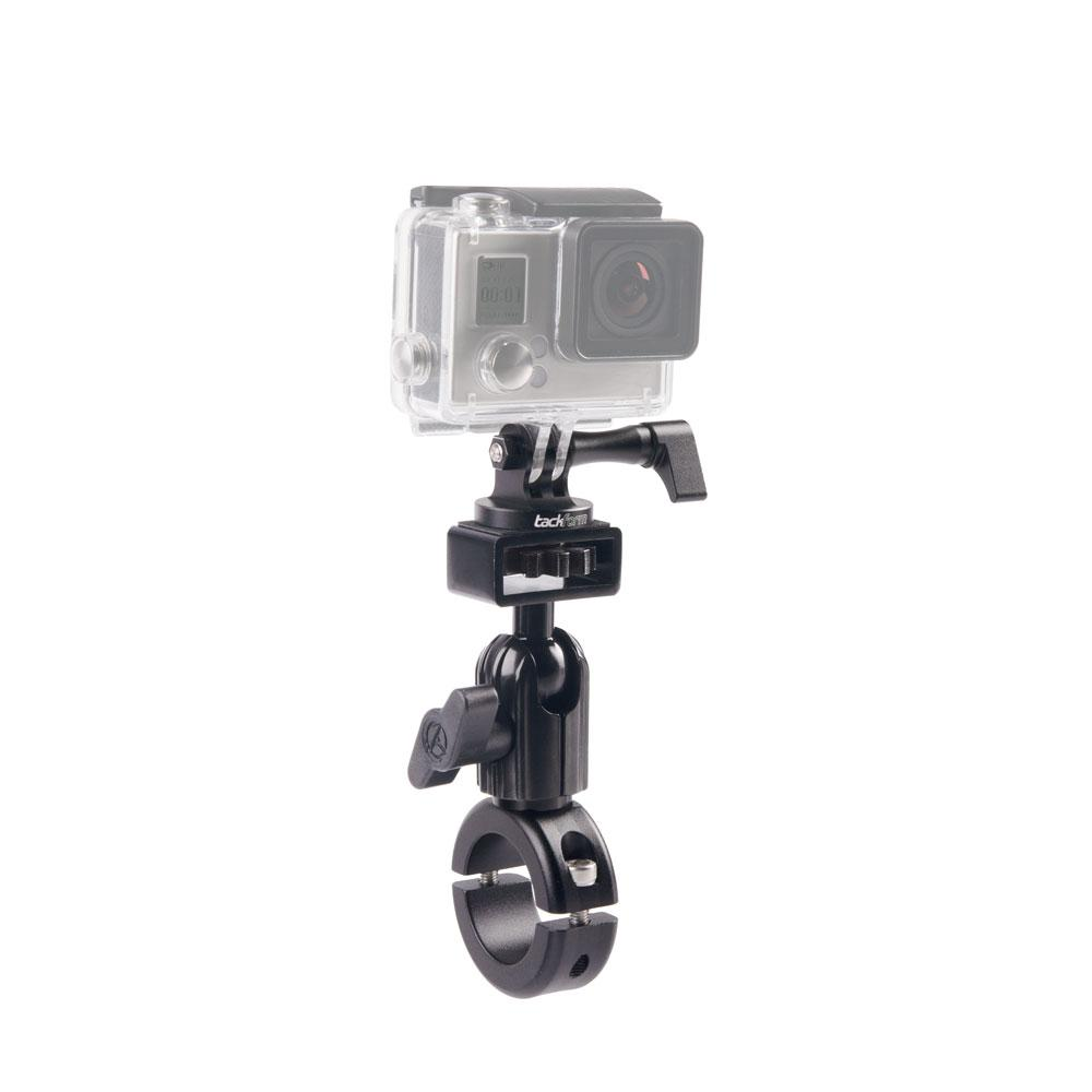 "Enduro Series™ Motorcycle Action Camera Mount | Short Reach Arm | GoPro Compatible Adapter Included | Mount Clamps on 7/8"", 1"", 1-1/8"", 1-1/4"" Bars 