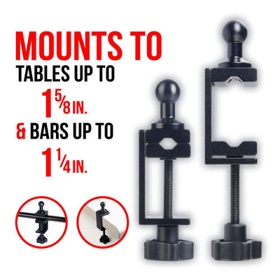 Table Clamp | 20mm Ball Connection | Enduro Series - Mounts to - Tables - Bars