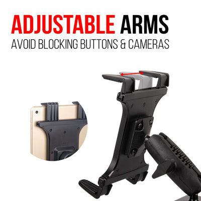 "Drill Base - 3.75"" Arm - Vehicle Or Wall Tablet Mount - 2 Points Of Articulation"