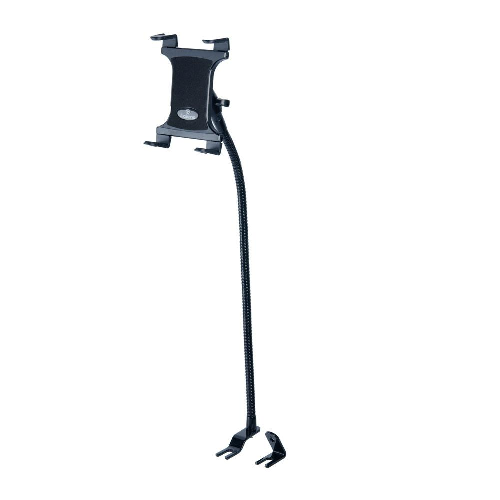 Tablet Mount for Truck | Industrial 28 Inch Steel Coil Flexible Gooseneck Seat Rail Device Holder
