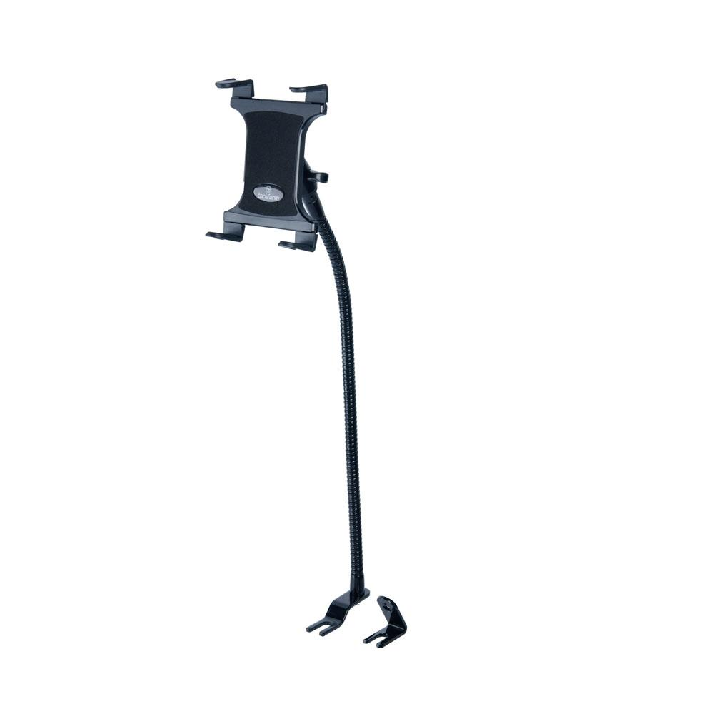 Tablet Mount for Truck | Industrial 23 Inch Steel Coil Flexible Gooseneck Seat Rail Device Holder | Commuter Series™