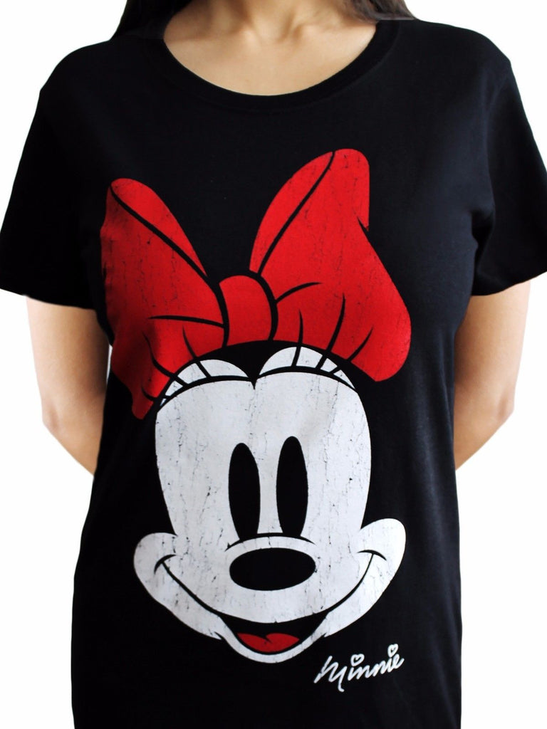 33a21ea6 Minnie Mouse Face Disney Womens Tshirt - Touch of Impression