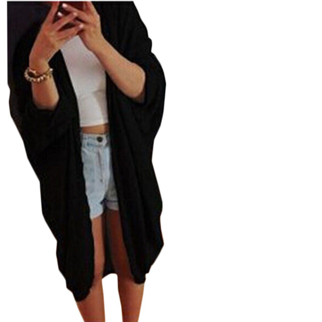 Latest Casual Bat Long Sleeve Knitted Cardigan