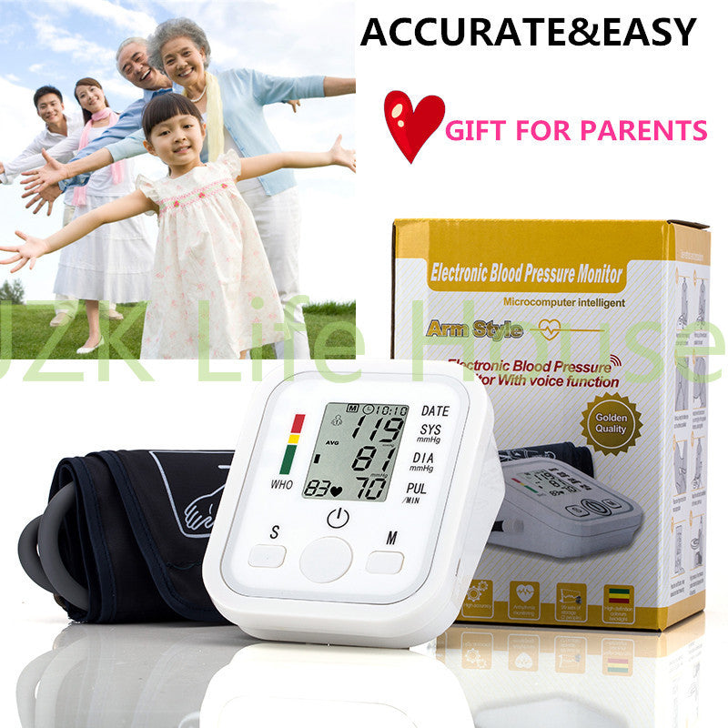 Digital LCD Upper Arm Blood Pressure Monitor