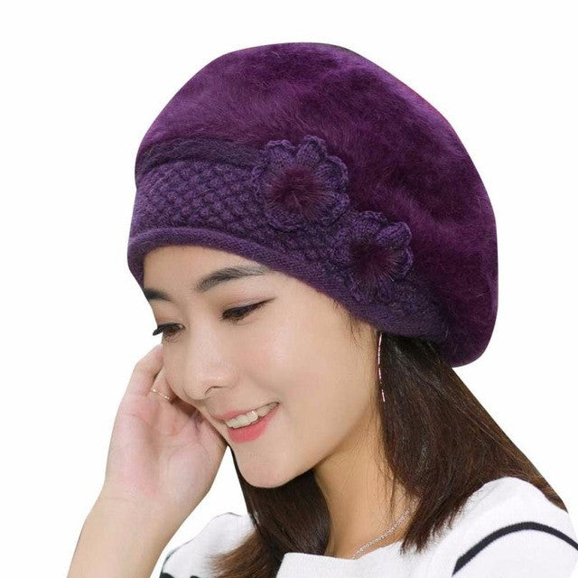Ladies Winter Wool Beanie Hats