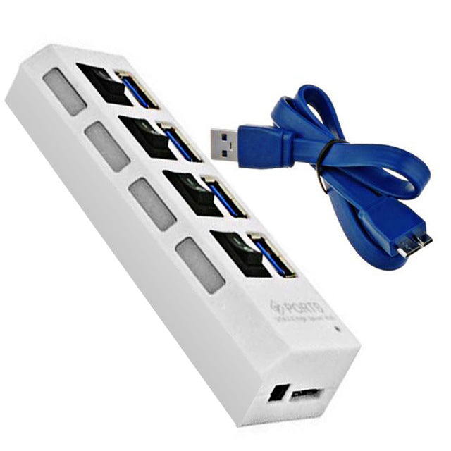High Speed USB HUB 3.0 4/7 Ports Portable Micro Power Adapter