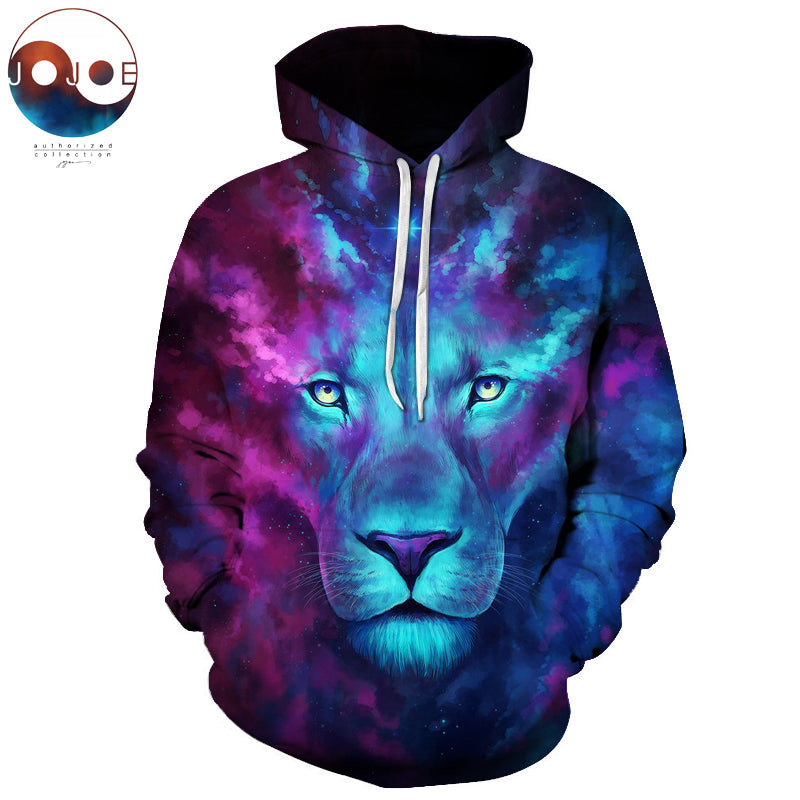 Firstborn by JoJoesArt Galaxy Lion Men Women 3D Hoodies