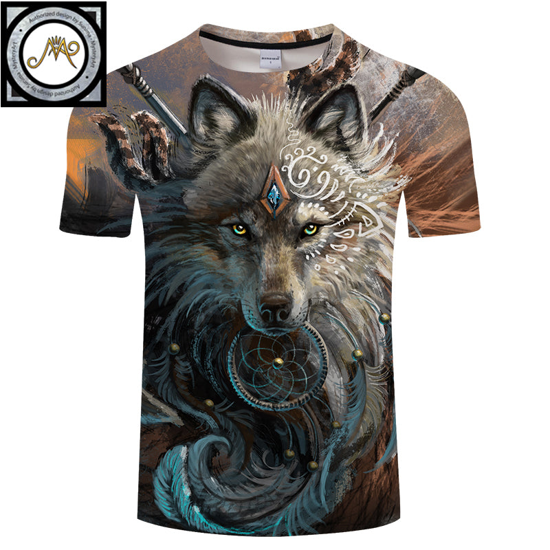 Wolf Warrior by SunimaArt 3D T shirts for Men