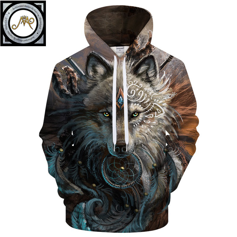 Wolf Warrior by SunimaArt Hoodies Unisex Hooded Sweatshirts