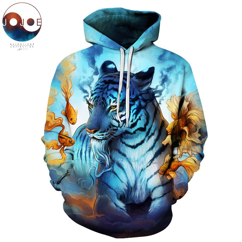 Dream by JoJoesart Tiger 3D Hoodies Sweatshirt Men Women