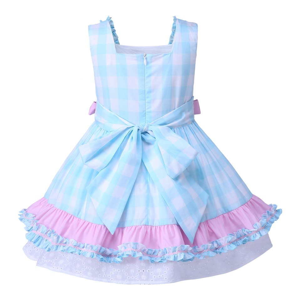 New Girls Sleeveless Summer Blue Dress