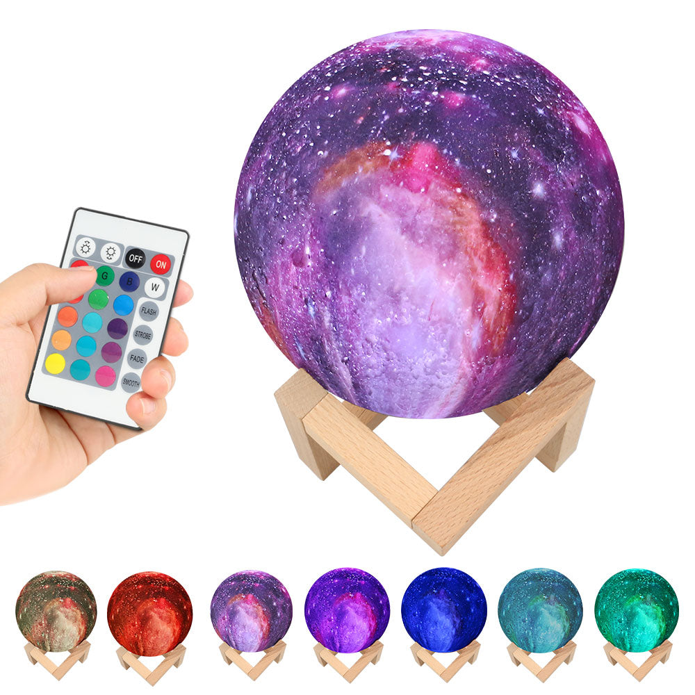 Home Decoration 3D Colurful Star Moon Lamp 15 CM