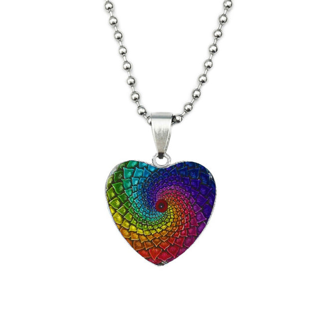 Boho Heart Shape Pendant Necklace
