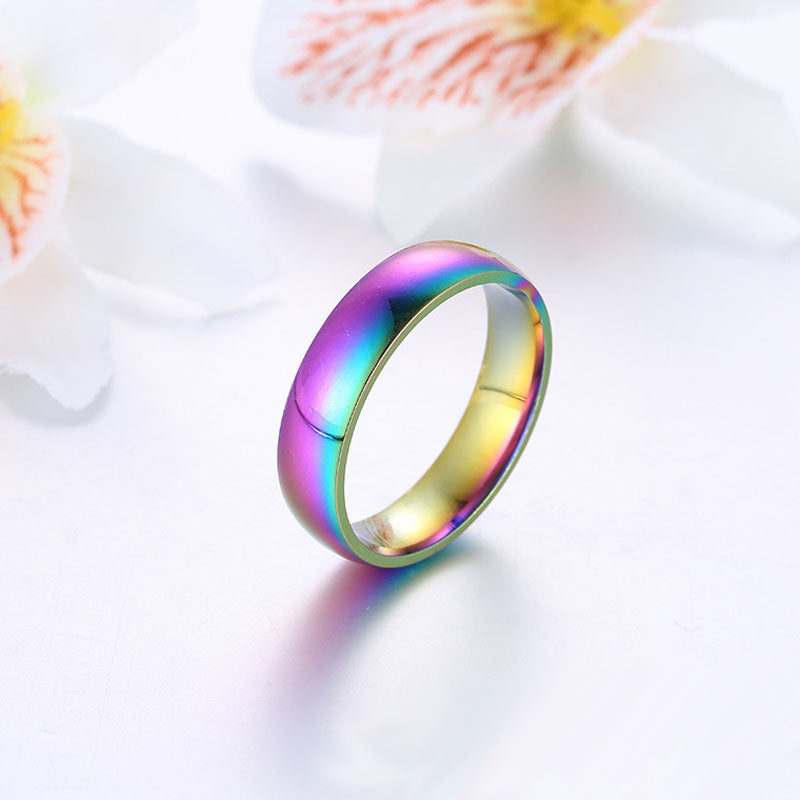 RAINBOW COLORS OF THE OCEAN - STAINLESS STEEL RING