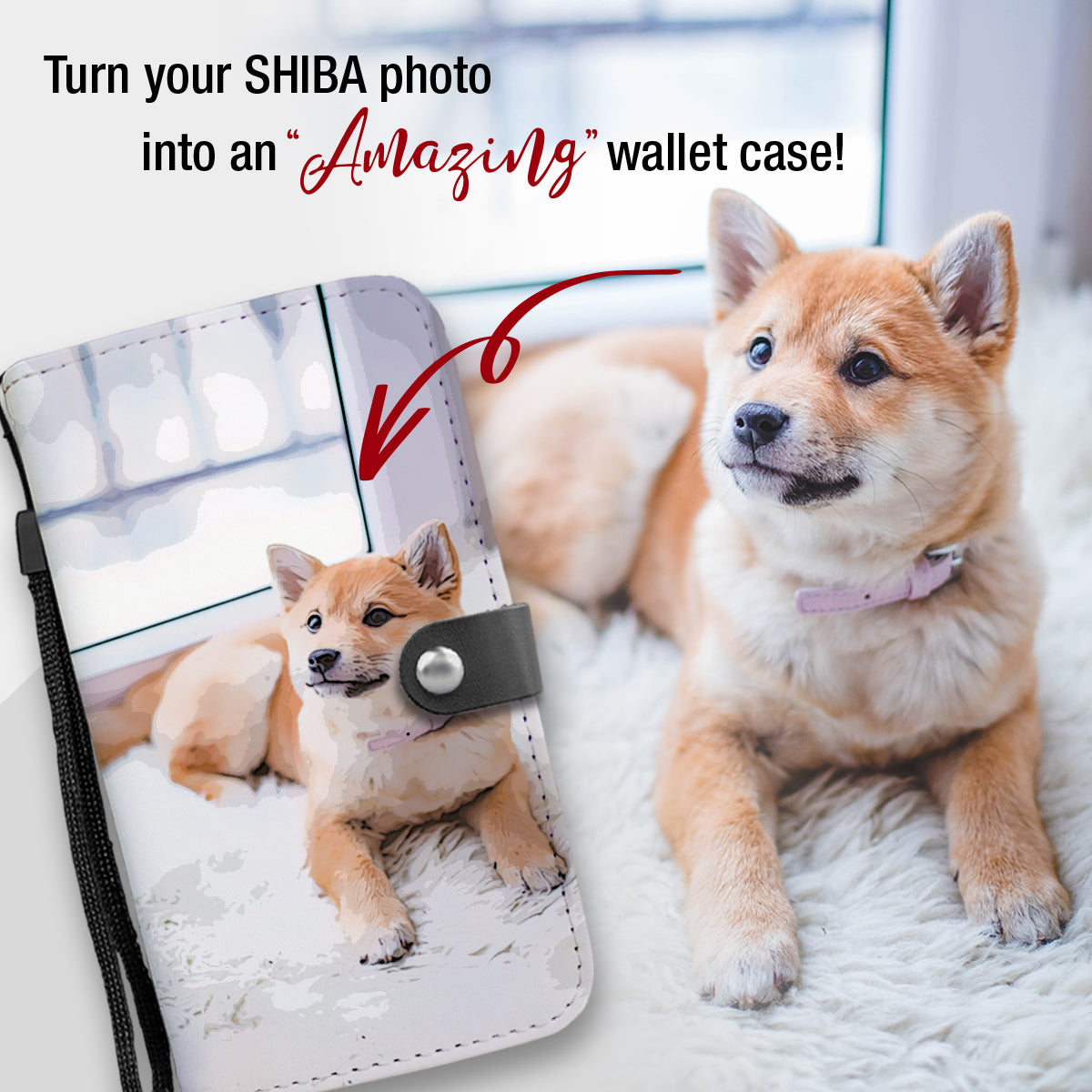 PERSONALIZED Shiba Wallet Phone Case