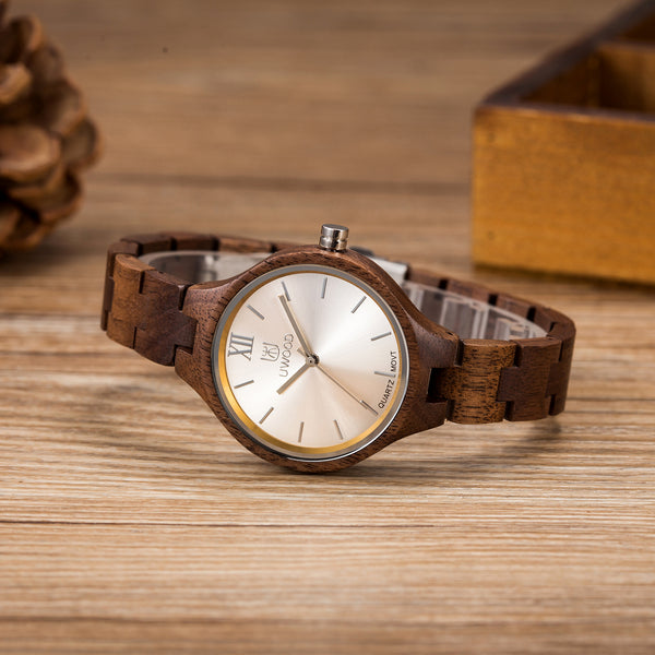 Walnut Wood Watch Women