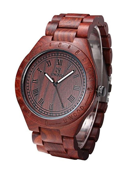 Red Sandal Wood Watch