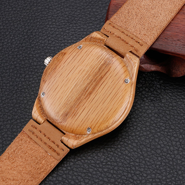 Maple Wood Leather Watch