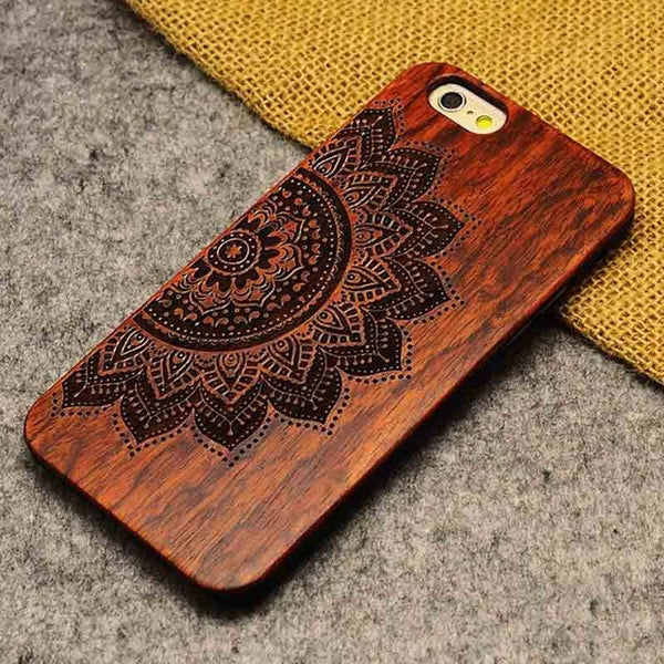 """Mandala Big"" Wood Case"