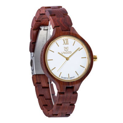 Red Sandal Wood Watch Women