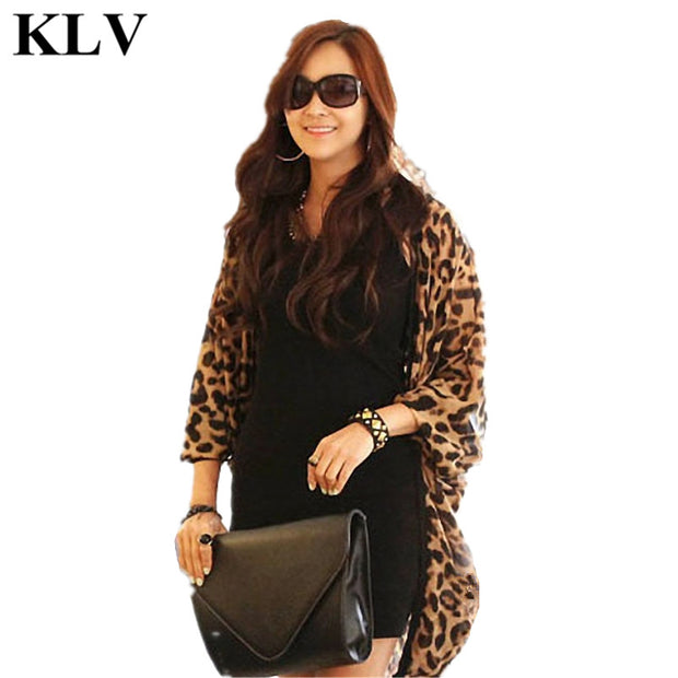 Sexy Leopard Print Batwing Sleeve Cape Kimono Shirt Tunic Chiffon Cardigan Lady Fashion Fall Tops Shawl Cover Up Aug3 - Jessikas Tops