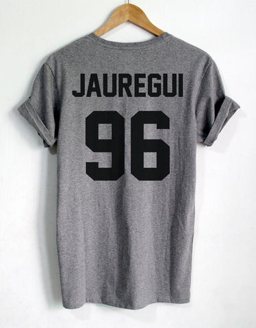 LAUREN JAUREGUI 96 Back letters print Women tshirts Cotton Casual Funny T Shirt For Lady Top Tee Hipster black white gray Z-291 - Jessikas Tops