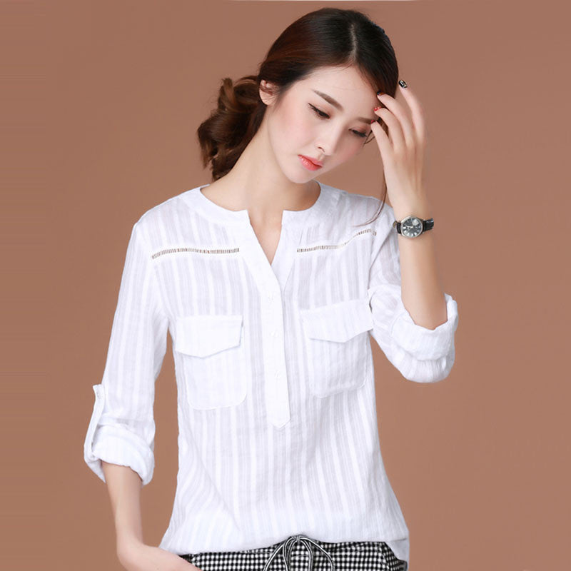 Blusas Femininas 2016 E Camisas Long Sleeve Shirt Women Clothes White Blouse Plus Size Korean Fashion Clothing Chemise Femme - Jessikas Tops