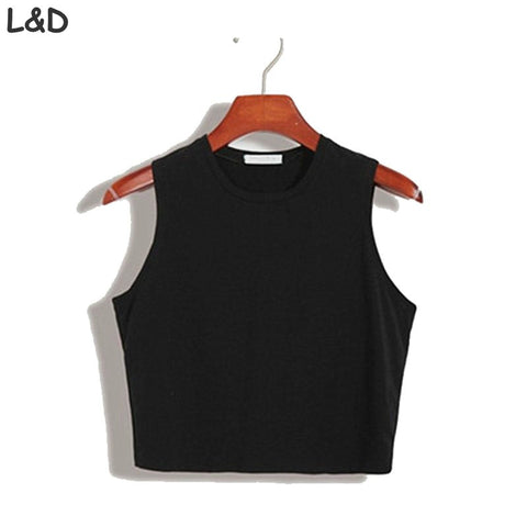 Fitness Skinny Crop Top 2017 New Women Tight Bustier Crop Top Skinny T-Shirt Belly Casual Dance Tops Vest Tank Tops - Jessikas Tops