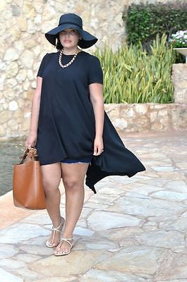 Women Summer Casual Black Loose Short Sleeve Chiffon Shirt Top Plus Size T-Shirts - Jessikas Tops