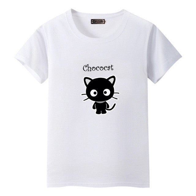 Dandeqi Naughty Black Cat 3D T shirt Women Lovely Shirt Good Quality