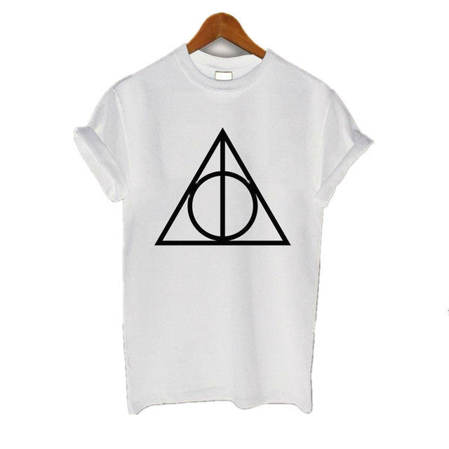 Deathly Hallows T Shirt Women Summer Short Sleeve T-Shirt Femme Hispter Print  Funny T-Shirts Top Tee Shirt Casual Clothing - Jessikas Tops