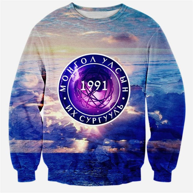 Alisister fashion women men 3d pullovers space galaxy printed