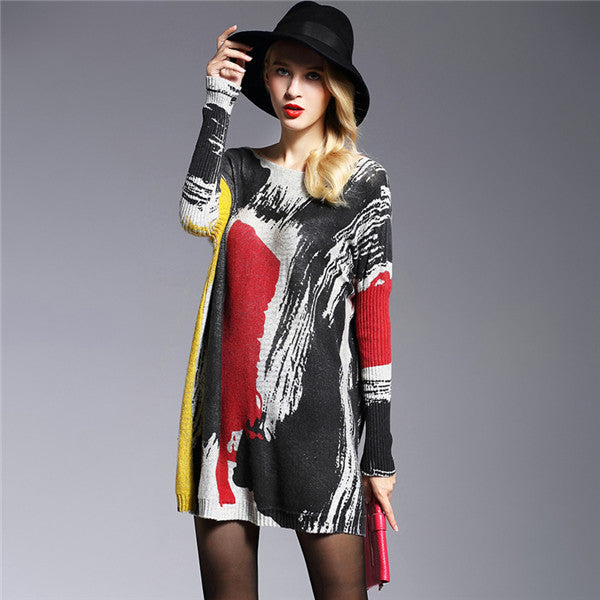 2017 Long Sweater Women Jumper Spring Oversized Pullover Casual