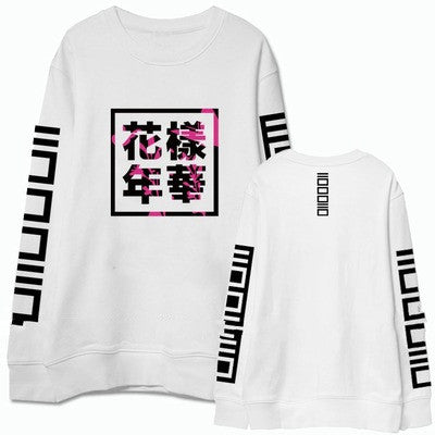 Bts bangtan boys new album cover same letters printing sweatshirt for men women supportive o neck pullover hoodies plus siz - Jessikas Tops