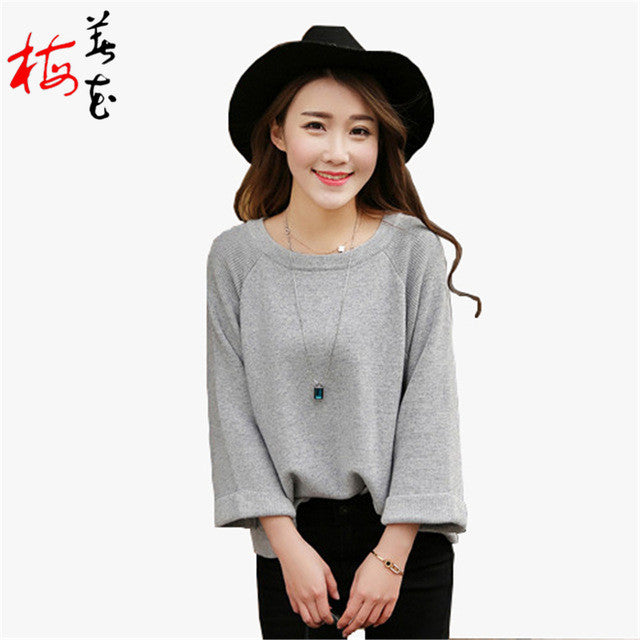 Cashmere sweater pullover women Loose jumper top designer sweater women wool sweater O Neck Knitwear short femme sueter pull - Jessikas Tops