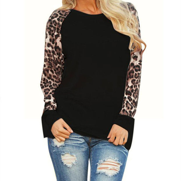 Women Shirt 2017 Fashion Leopard Print Blouse Casual O Neck Long Sleeve Ladies Tops Tunic Blusas Camisas Mujer Plus Size S-5XL - Jessikas Tops