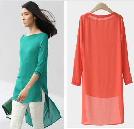 blusas femininas 2015 candy Color Women Blouse Tropical Tops Casual Chiffon Blouse Cheap Clothes larger size 4XL 5XL  vestidos - Jessikas Tops