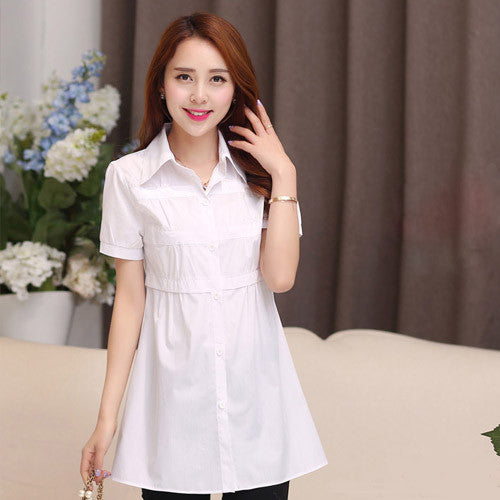 blusas femininas 2016 Women Cotton blouse Fashion Short sleeve lady blusasde renda Plus Size Blouse womens tunic shirts 4xl - Jessikas Tops