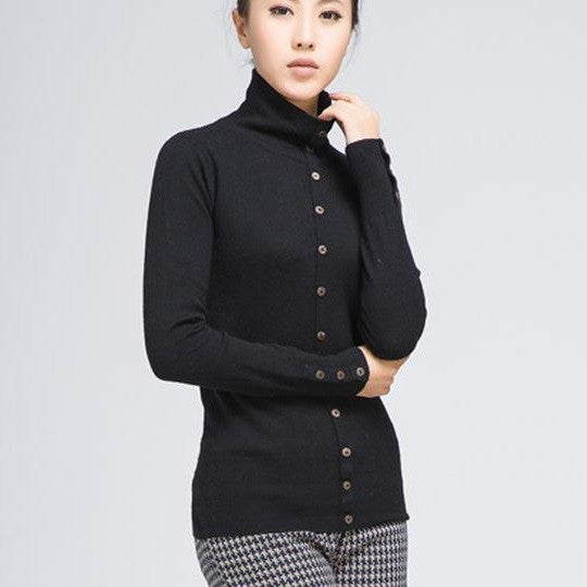Cashmere sweater female  pure cashmere sweater sweater's backing false two sets of special package mail - Jessikas Tops