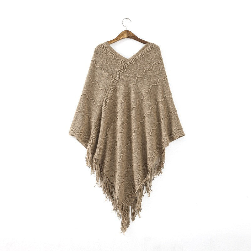 COCKCON Women Batwing Cape Poncho Knit Top Cardigan Sweater Coat Outwear Jacket - Jessikas Tops