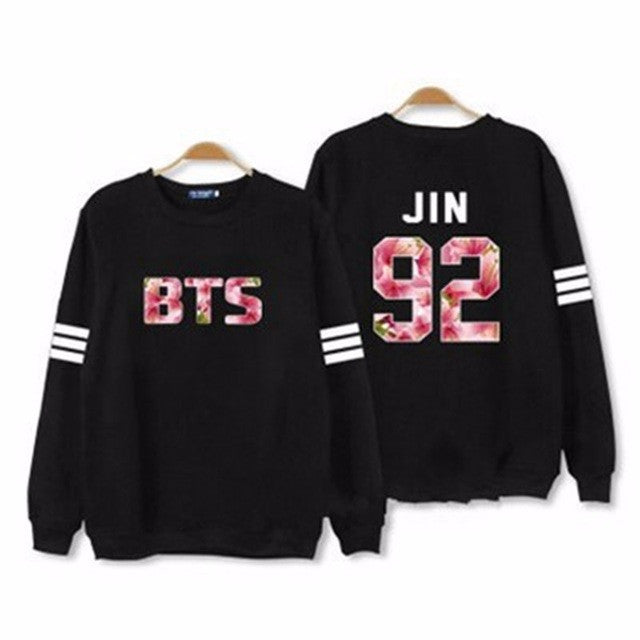 Kpop Women BTS JIN Hoodies Long Sleeve Sweatshirts Women Letter Print Plus Size Tracksuit S-2XL Hot Fashion Hoody Spring P35 - Jessikas Tops