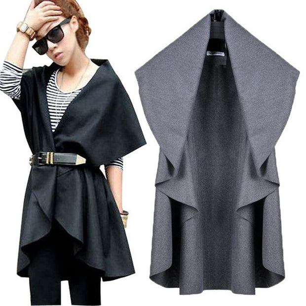 Outwear New Women Vest Coat Colete Feminino Plus Size Loose Irregular Casual Female Coats Jackets Vest Coats 6 Colors - Jessikas Tops