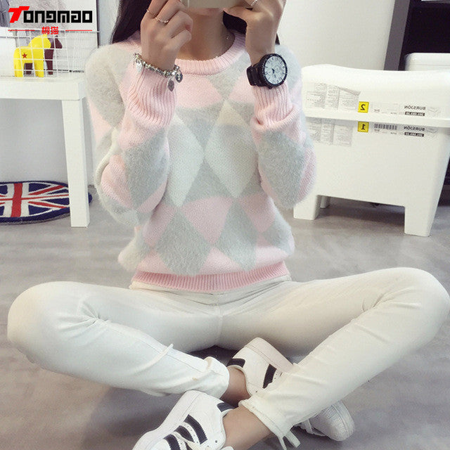 Brand Woman Sweater Pullover 2017 Autumn Winter Fashion Casual