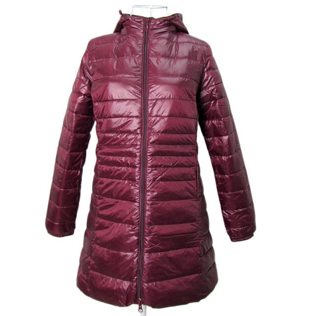 BOoDinerinle Long Ultra Light Duck Down Jacket Women 2017 Autumn and