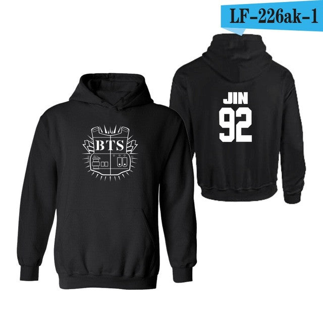 BTS Hot Sale Bangtan Boys Fashion Design Long Sleeve Women Hoodies