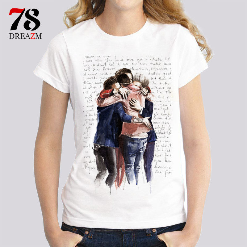 one direction top shirt female t-shirts women Fashion Ladies' print