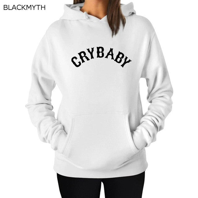 BLACKMYTH Women's CRYBABY Long Sleeve Autumn Hoodies Pullovers