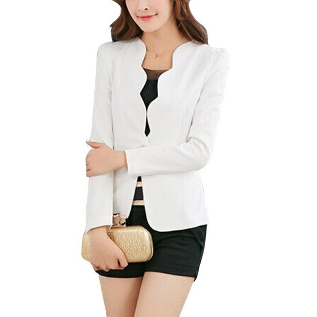 Casual Business Blazer Suit Women One Button Jacket Coat Outwear Candy
